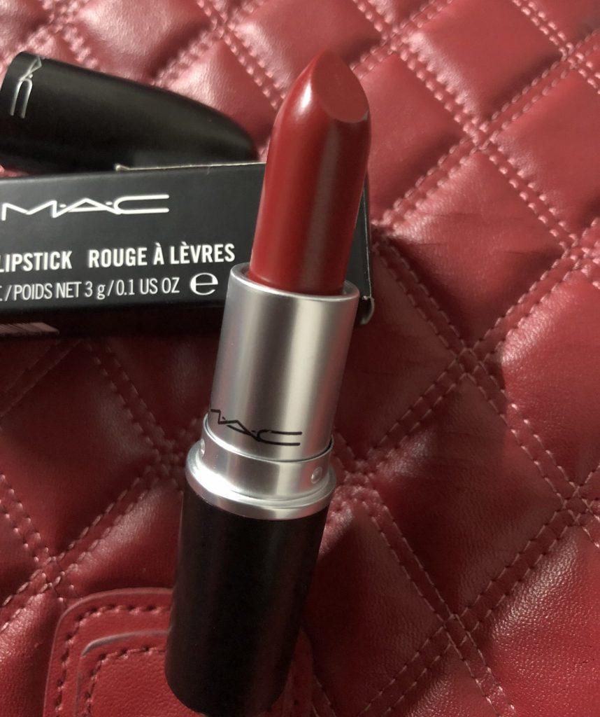 MAC Matte Lipstick Russian Red Inside Look