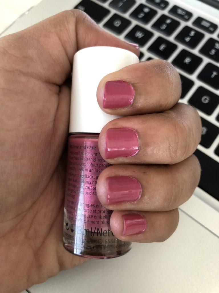 Essence glow and care nail polish