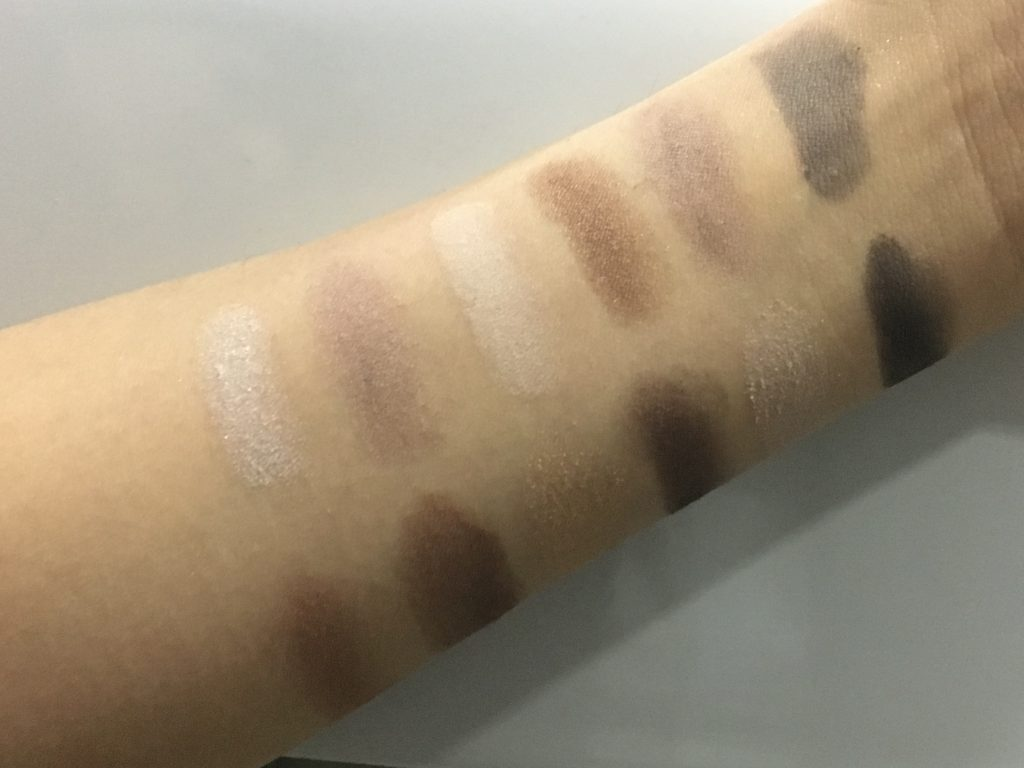 Maybelline The Nudes Palette Swatches