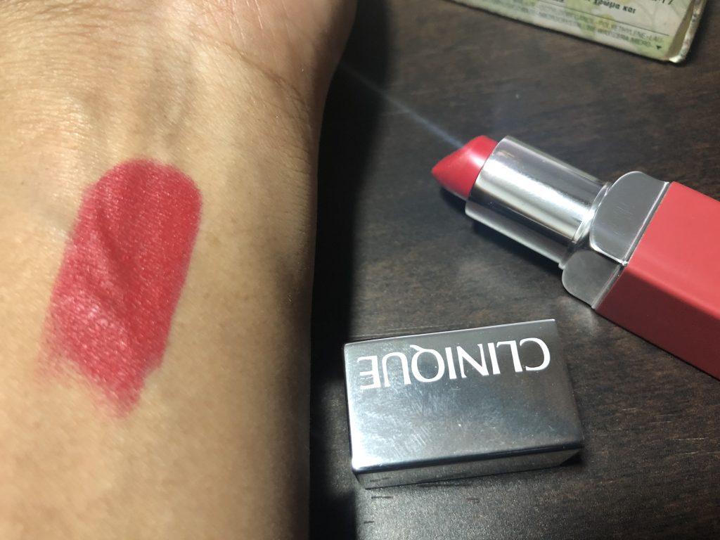 Clinique Pop Matte Lip Color - Ruby Pop Swatch Test