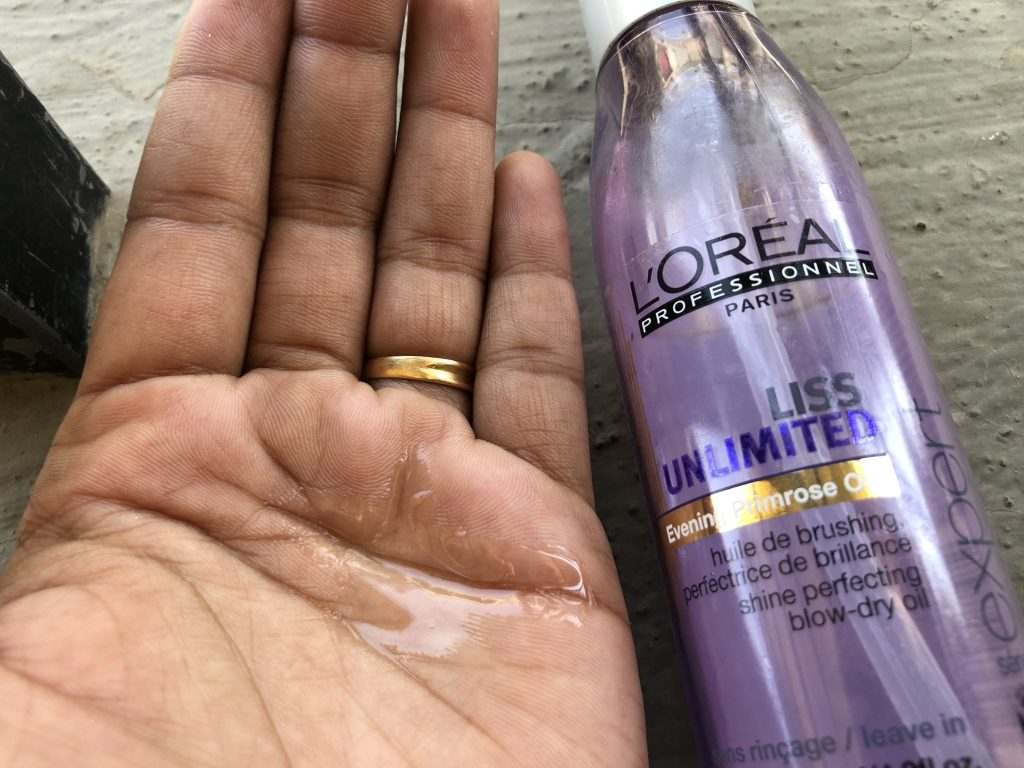 L'oreal Professionnel Liss Unlimited Evening Primrose Oil Swatch Test