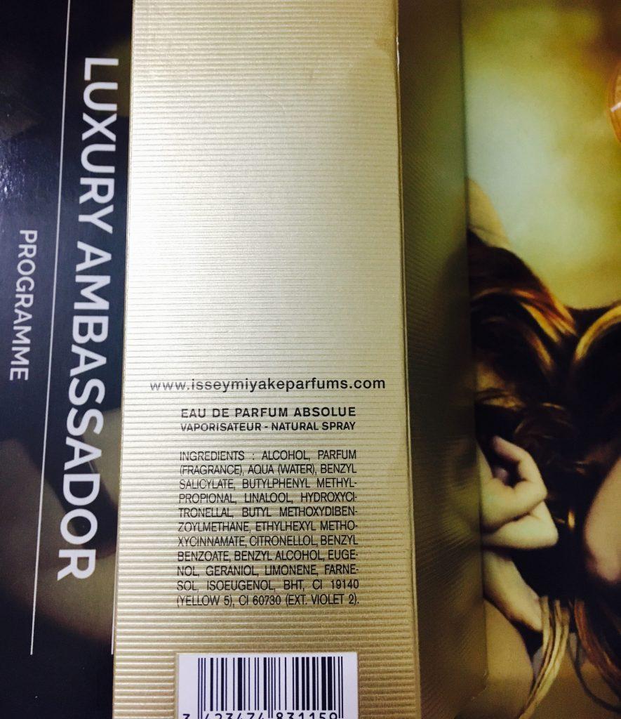 Issey Miyake Perfume Ingredients
