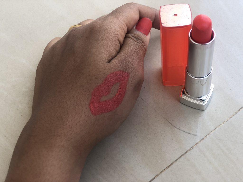 Maybelline Rebel Bouquet REBO5 Lipstick Swatch Test