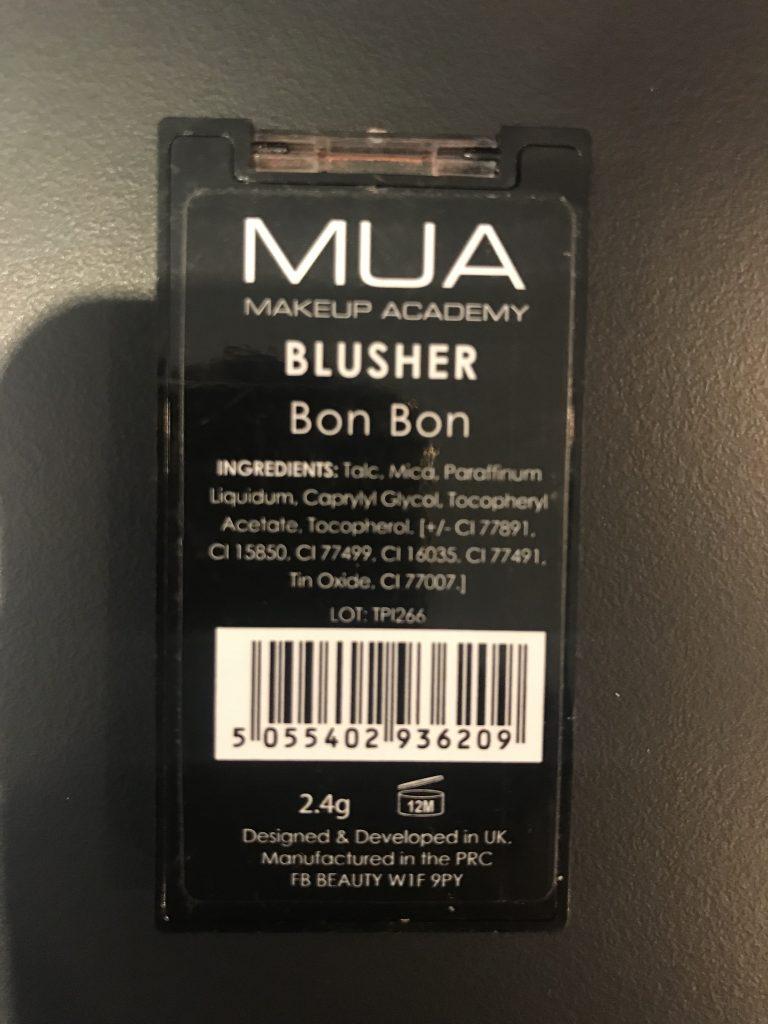 MUA Makeup Academy Blusher Bon Bon