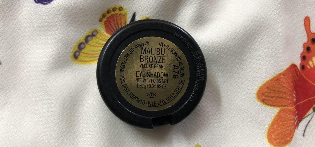 MAC Bronze Eyeshadow Description