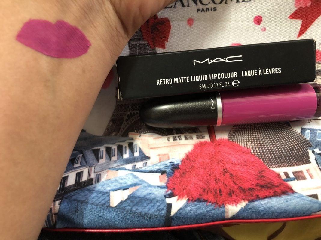 MAC Retro Matte Liquid Lipcolour Slipper Orchid Lipstick Swatch Test