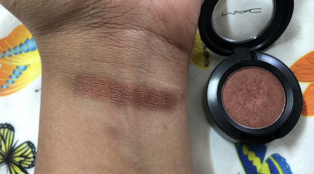 MAC Bronze Eyeshadow Swatch Test
