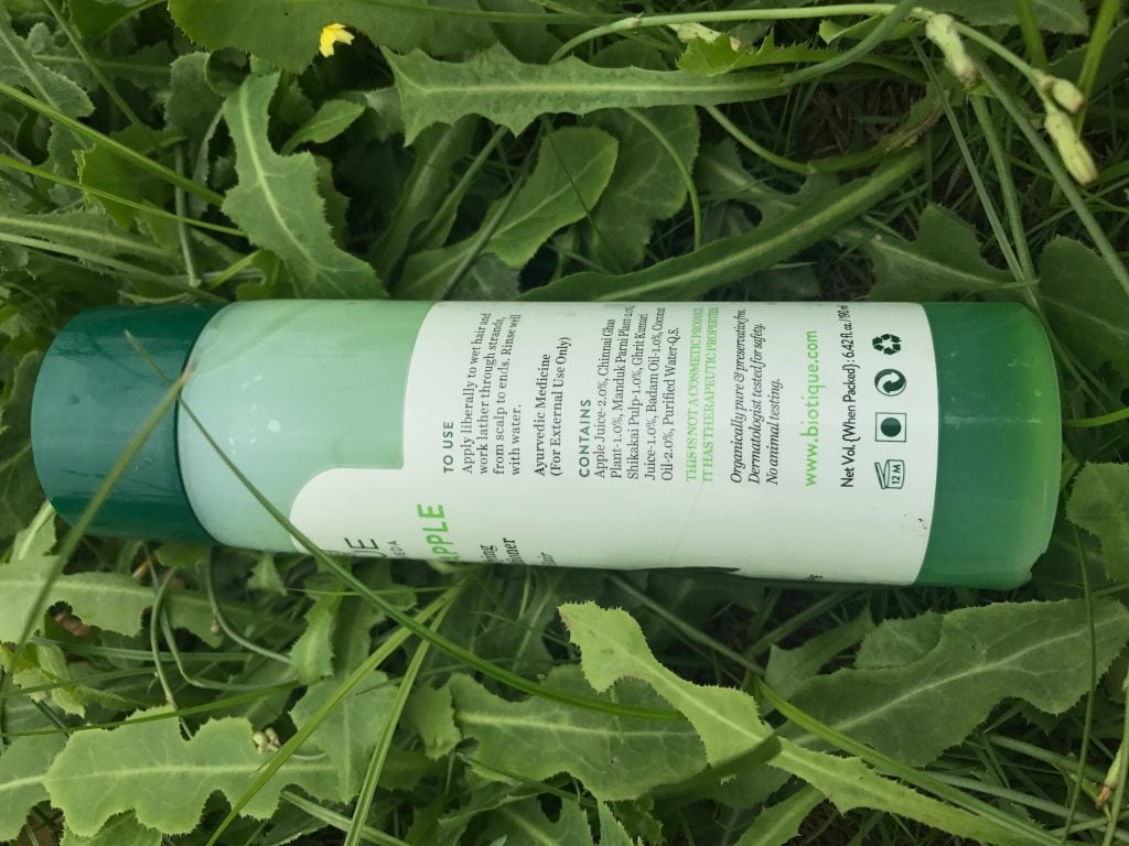 Biotique Bio Green Apple Daily Purifying Shampoo and Conditioner Ingredients