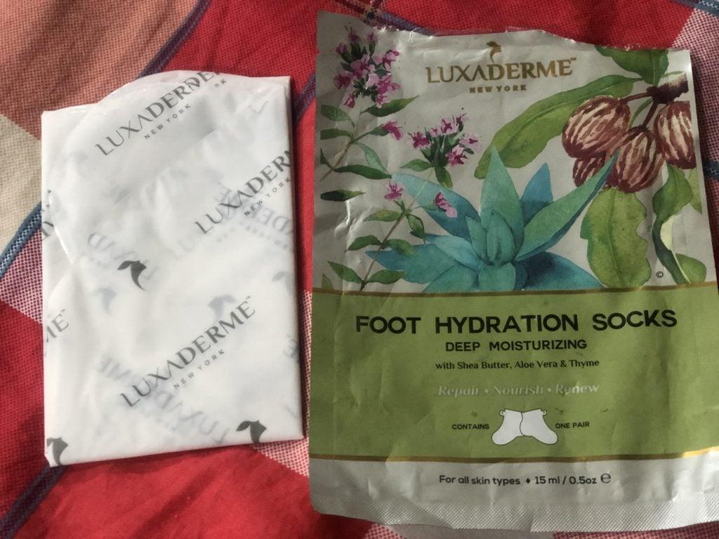 LuxaDerme Deep Moisturizing Foot Hydration Socks