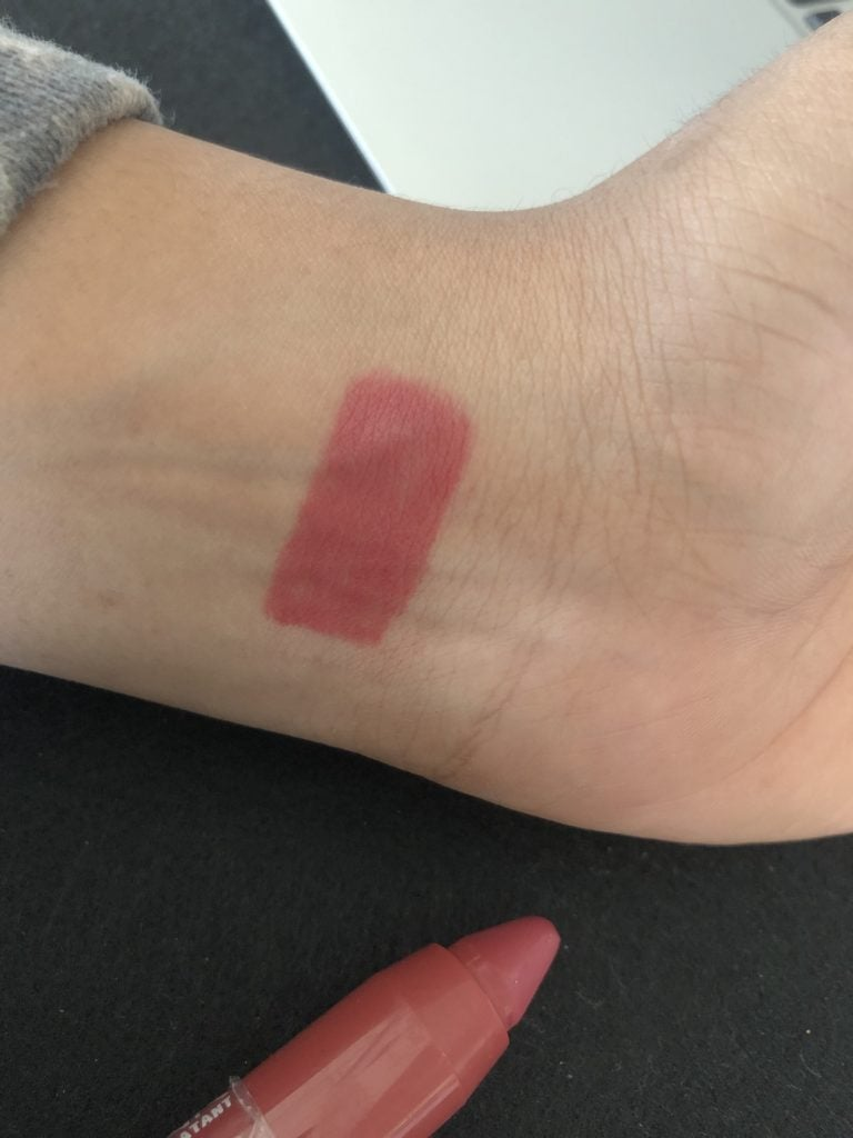 NYX Chunky Dunk Hydrating Lippie in Rum Punch Swatch