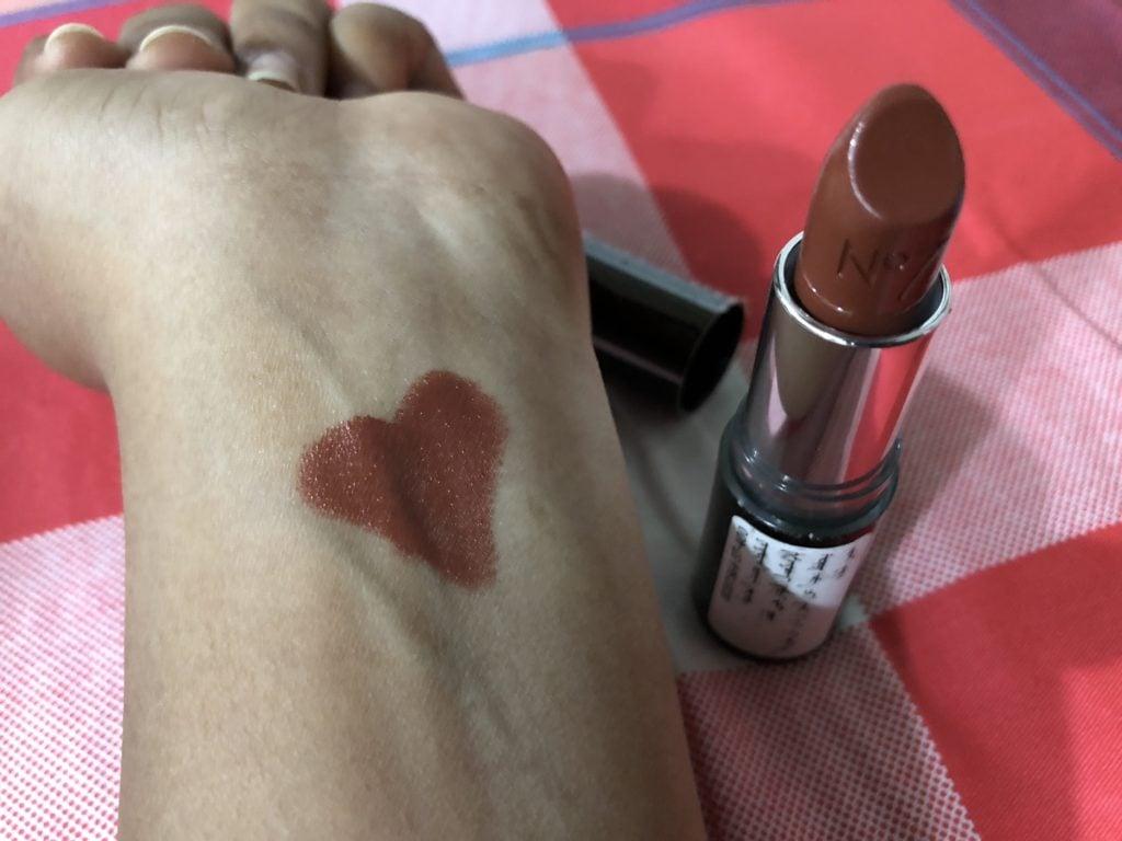 No7 Moisture Drench Lipstick - Nutmeg Spice Swatch